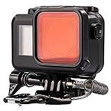 Lammcou Wasserdichte Schutzgehäuse Case Kompatibel mit DJI Osmo Action Kamera, 60M Schwarzes Unterwasser Tauchen Gehäuse Housing & Rotfilter & Trageband & Antibeschlagblatt & Halterunge für Osmoaction