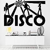 Disco Wandaufkleber Musik Nachtclub Prom Retro Vinyl Wandtattoo Wohnzimmer Wohnkultur Musiker Tapete Wandaufkleber A8 88x57