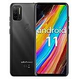Smartphone ohne vertrag Helio P60 Octa-Core, Ulefone Note 11P Android 11 Handy 6,55', 8GB+128GB, 4400mAh, 48MP+8MP Kamera+2MP Kamera, 3-Karten-Steckplatz, Fingerabdruck, 4G Dual SIM(Schwarz)