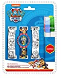 Kids Licensing Digitaluhr für Kinder | Paw Patrol | Armbänder zum Malen | Robuste Kinder-Armbanduhr | Kinder-Armbanduhr | Lernuhr | Offizielle Lizenz