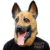CreepyParty Halloween Kostüm Party Tierkopf Latex Maske Deutscher Schäferhund Hundemaske Karneval Masken