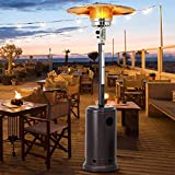 XKRSBS Erdgas Terrassenstrahler für den Außenbereich, kommerzielle 48000 BTU Terrassenheizung, Halogenheizung, geeignet für Innen, Außenbereich, Hochzeiten, Partys, Gärten und gewerbliche Nutzung
