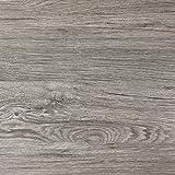 [12,56€/m²] Klebefolie in grauer Holz-Optik [200 x 67,5cm] I Selbstklebende Folie für Möbel Küche & Deko I Selbstklebefolie hitzebeständig & abwaschbar I 3D Holz-Maserung Dekor 'Kalk-Esche'