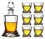 SYZHIWUJIA Dekanter Whisky Decanter Wine Dekanter Weinkaraffe Kreative Kristallglas Wein Alkohol Weinflasche Dekoration Versiegelt Dekanter Weinflasche JUG Set Dekanter Whisky Dekanter. (Color : A)