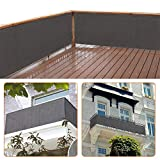 zimo Balkon Sichtschutz UV-Schutz blickdichte wetterbeständige Balkonbespannung Balkonverkleidung mit Kabelbindern HDPE-Spezialgewebe 5 Meter (90x500cm) G