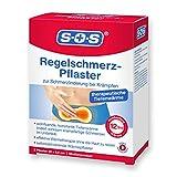 SOS Regelschmerz-Pflaster, angenehme Wärme zur Schmerzlinderung bei Krämpfen, wohltuende und konstante Tiefenwärme bei Schmerzen während der Menstruation, je 20 x 9,5 cm, 1 x 2