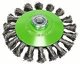 Bosch Professional Kegelbürste, gezopfter Draht, rostfrei, 0,35 mm, 115 mm, 12500 U/min, M 14, 2608622109