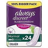 Always Discreet Inkontinenzeinlagen Normal (24 Binden) Big Pack, Diskreter Schutz & hohe Saugstärke, Geruchsneutralisierend