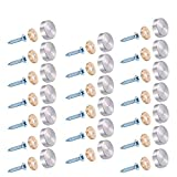 20 Stück Spiegelschrauben Silber Edelstahl Spiegel Schrauben Dekorativ Zylindrisch Nägel mit Schraubenkappe für Teetischen , Kleiderschränken , Spiegeltische