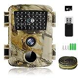 innislink Wildkamera, 1080P 12MP Jagdkamera mit Infrarot Nachtsicht Bewegungsmelder, HD Wildlife Camera mit SD-Karte IP66 Wasserdichter Überwachungskamera für Wildtierüberwachung Jagd Hausüberwachung