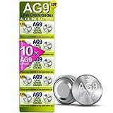 5Plus AG9 LR45 LR936 SR936W Premium-Knopfzellen-Batterien, Gruppe 10 Stück