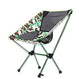 TSDLRH Camping Klappstuhl Camouflage Oxford Tuch Angelstuhl Ultraleicht Tragbarer Freizeit Strandstuhl