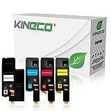 4 Toner kompatibel mit Xerox Phaser 6000 6010 N, für Xerox WorkCentre 6000 Series, WC 6015 VB VNI - Schwarz 2.000 Seiten, Color je 1.400 Seiten
