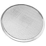 Sanfiyya Pizza-Backen-Wannen Mesh-Aluminium-Stahl-Rund knusprige Kruste 12Inch Tray Bakeware Küche Zubehö