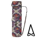 Ryaco Yogatasche, Yogamatte Tasche für robuste Yogamatten-Tragetasche mit verstellbarem Schultergurt (Cashewblumen)