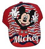 Mickey Maus, Cap, Kappe, Schirmmütze, Zwei Varianten (Rot, 52)