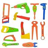 F Fityle 33PCS Miniatur Reparaturwerkzeuge Set Kinder Geben vor, Toy Hammer Zubehör zu Spielen