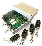 Set 4x Handsender und Funk Empfänger Steuerung für alle 433MHz Sender mit Keeloq, universal programmierbar, 2 Kanal mit je 230V / max. 16A Relais, ADK-7 als Garagensteuerung, Lampensteuerung, Jalousiesteuerung, Pumpensteuerung