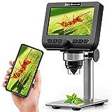 LCD Digital Mikroskop, YINAMA 4,3 Zoll 1080P 2 Megapixel 1000X Vergrößerung Zoom Drahtlose USB-Stereo-Mikroskopkamera, kompatibel mit iPhone, Android, iPad, PC, MAC und Windows