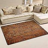 XiangHeFu Teppiche zum Wohnen Esszimmer Schlafzimmer Fußmatten Dekorative Ziermauer 2'7'x1'8 (31x20 Zoll) Teppich rutschfeste Bodenmattenablage