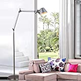 Jidan Stehlampe einfacher moderner Art-Hoch Pole Standin Minimalistische Stehlampe 1.5M Aluminiumhut Form Büroleuchten Stehleuchte E27 Spreizdübel Foyer Study Cafe Deko Licht