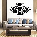 Aufkleber Game Zone Gamepad Vinyl Wandaufkleber Aufkleber Spielzimmer Tapete Spiel Aufkleber Wandbild Vinyl Tapete A5 28x47cm
