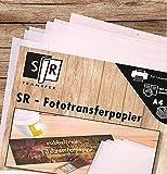 SR-Fototransferpapier - nie wieder rubbeln - 25 Blatt DIN A4 für viele Materialien und Oberflächen