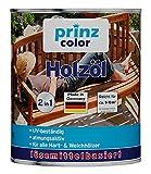 prinzcolor Premium Holzöl Pflegeöl Holzschutz Imprägnieröl Bankirai 1l