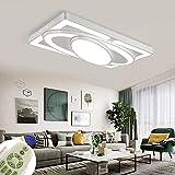 HAPYNY 78W LED Deckenlampe Kreative Deckenleuchte Raumschiff Energiesparlampe Für Schlafzimmerlampe Wohnzimmerleuchte Küchen Balkon Flur (78W-Dimmbar 3000-6500K)