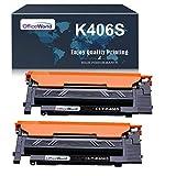 Officeworld Kompatibel Toner CLT-K406S Schwarz Ersatz für Samsung CLT-K406S für Samsung Xpress C460W C460FW C410W C460; CLX-3305 3300 3305FN 3305W 3305FW; CLP-365 365W 360 360N (2 Schwarz)