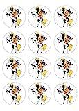 12 Muffinaufleger ca. 6 cm zum selbst ausscheiden, Cupcakes Muffinsbild Geburtstag Motiv: Yakari , Fondant 0522x