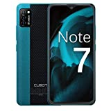 CUBOT Note 7 Handy, Smartphone ohne Vertrag, 4G Android 10 Go, 5.5 Zoll HD Display, 13MP Dreifach Kamera, 3100mAh Akku, 2GB/16GB, 128GB Erweiterbar, Dual SIM (Grün)