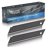 Klangfeiler® 25 Cuttermesser Klingen - 18mm Breite - Schwarze Cutterklingen für den C