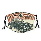 SOUL-RAY Retro-Auto- und Garage-Werbeplakat, staubdicht, transparent, mit Filter, Mode, Maske für Unisex
