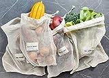 Montecito Home - 100 % organische, ungebleichte Baumwolle Produce Bag Set – kaufen Sie lokal, essen Sie Pflanzen, Bauernhof zu Tisch, Bauernmarkt