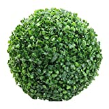 BBABBT 40cm Buchsbaumkugel Kunstblatt Topiary Ball realistische gefälschte Pflanze, grüne Plastikpflanze Balldekoration, Hausgarten Dekor