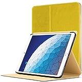 Forefront Cases Smart Cover für iPad Air 3 2019 - Magnetische Schutzülle Case Cover & Ständer für Apple iPad Air 3 2019 - Smart Automatische Schlaf Wach Funktion - Dünn Leicht - Gelb