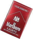 XIAOXIA Black Camel Zigarettenetui, wasserdicht und druckbeständig, tragbar, Metall, Aluminium-Legierung, automatisch, für 20 Zigaretten (Farbe: Rot, Größe: Marlboro)