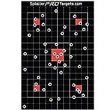 30x45 cm Splatter-Zielscheiben. Geschosse hinterlassen strahlend weiß umrandete Einschusslöcher. Sie sehen sofort, wo Sie getroffen haben. Ultimativer Kontrast von Weiß auf Schwarz. (25)
