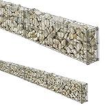 bellissa Mauergitter-Set für Gabionen - 95553 - Gabionen-Mauer, Steinkörbe längenverstellbar, erweiterbarer Bausatz - 464 x 10 x 20 cm
