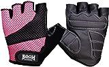 BOOM Prime Damen Rollstuhl-Handschuhe, gepolstert, Gr. L, Pink