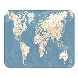 Mousepad Computer Notepad Büro Blau Afrika Vintage Weltkarte Detaillierte Beige Asien Atlantik Heimschule Game Player Computer Worker Inch
