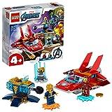 LEGO76170MarvelAvengersIronManvs.ThanosmitJetund2SuperheldenFiguren,Spielzeugab4Jahren