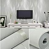 DHHY 3D Selbstklebende Vliesstoff-Wandaufkleber Reine Pigmentfarbstreifen Tv-Hintergrundtapete Wohnzimmer Schlafzimmer Küche Dekoration Tapete 53cm*600
