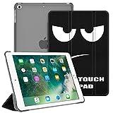 Fintie Hülle für iPad 9.7 Zoll 2018/2017 - Ultradünn Schutzhülle mit transparenter Rückseite Abdeckung Cover mit Auto Schlaf/Wach für 9.7' iPad 6. Generation / 5. Generation, Don't Touch