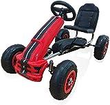 Roller mit einem Bremspedal Kart Karts, Roller verstellbaren Sitz, Pedale, Kart,Red