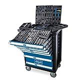 scheppach Werkstattwagen TW1100 - 7 Schubladen   inklusive 70-teiligem Werkzeugset