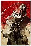 JSYEOP JiAwen Fullmetal Alchemist Japanische Anime Poster Dekorative Malerei Leinwand Wandkunst Wohnzimmer Poster Schlafzimmer Malerei 16x24 Zoll (40x60cm)