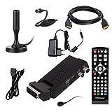 DVB-T/T2 SET: Opticum HD AX Lion Air 2 HEVC DVB-T/T2 Receiver + Xoro HAN 100 DVB-T/T2, FM, DAB Aktive Antenne (Full HD, HEVC/H.265, HDTV, HDMI, SCART, USB 2.0 DVBT DVBT2 DVB-T2)
