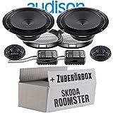 Audison APK-165-16cm Lautsprecher System - Einbauset für Skoda Roomster Front Heck - JUST SOUND best choice for caraudio
